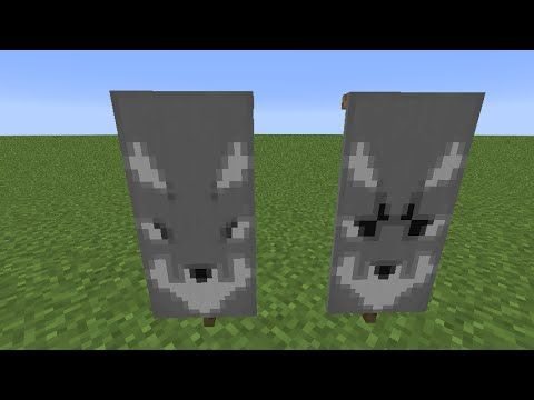 How To Make A Wolf Banner In Minecraft Youtube Minecraft