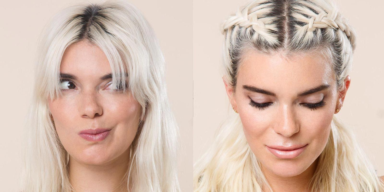 How To Hide Your Bangs With A Braid Hair Styles Long Hair Styles Hair Hacks