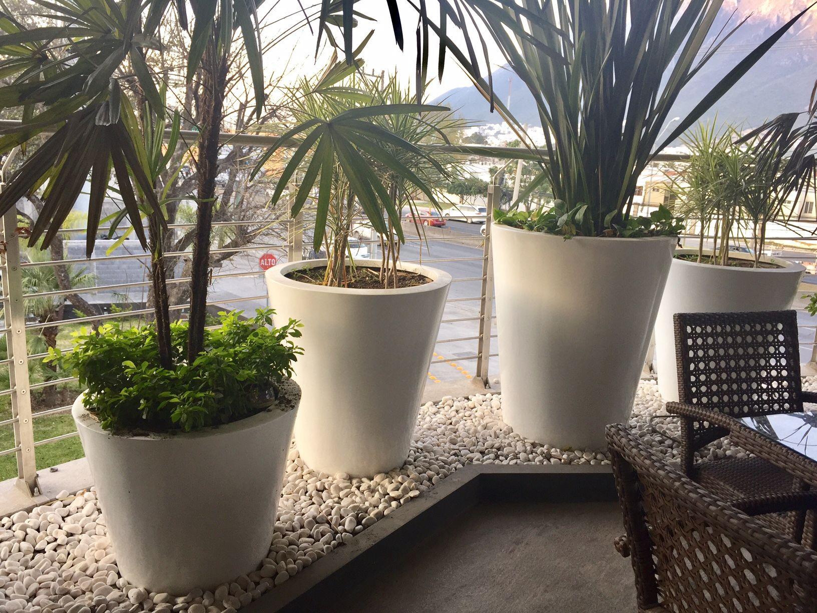 Macetas de fibra de vidrio para decorar interiores y for Decoracion de interiores monterrey