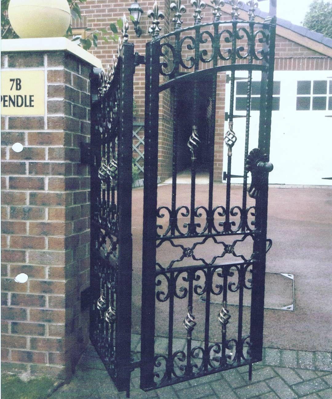 Nice Set Of Gates Fitted Warrington Liverpool Wroughtiron