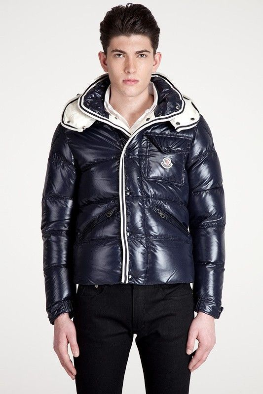 50% Discount Moncler Men Branson Navy Blue Quilted Down Zip Jacket -  $203.15 Men Moncler