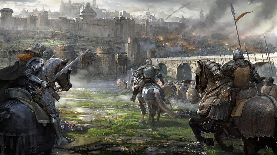 Knight Castle Siege Medieval Battle Fantasy 4k Wallpaper 4 973 Fantasy Battle Medieval Medieval Fantasy