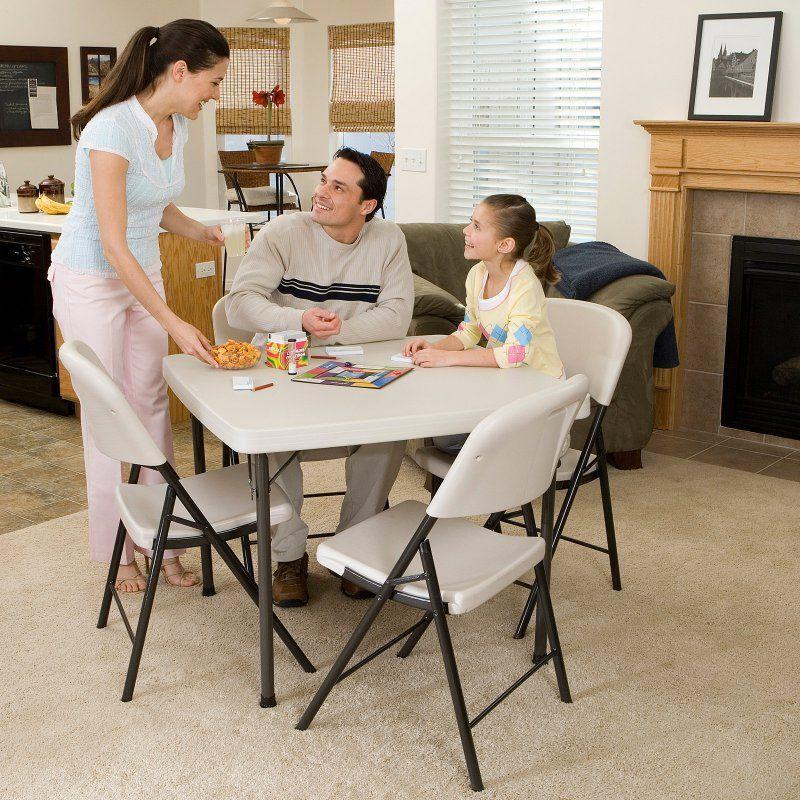 Lifetime 37 In Square Folding Table 22301 Folding Table