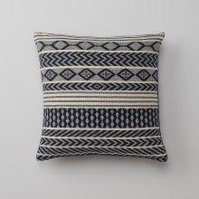 Handwoven Mayan Throw Pillow - Navy