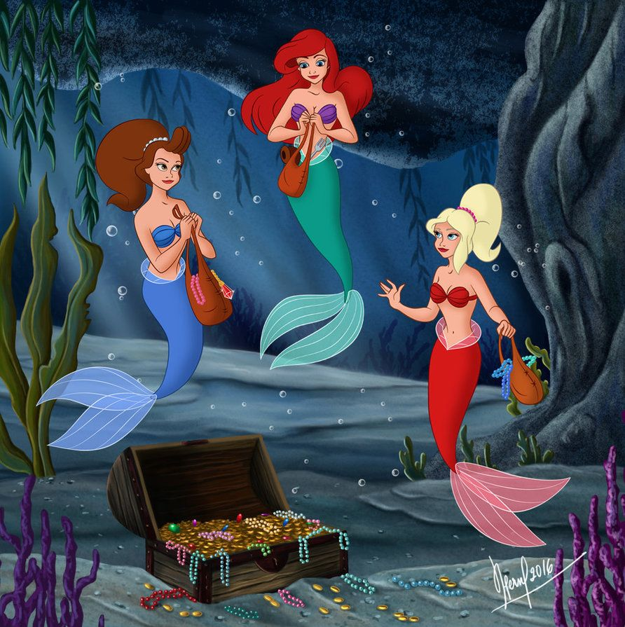 Ariel and sisters ariel la petite sir ne pinterest - Dessin anime princesse ariel ...
