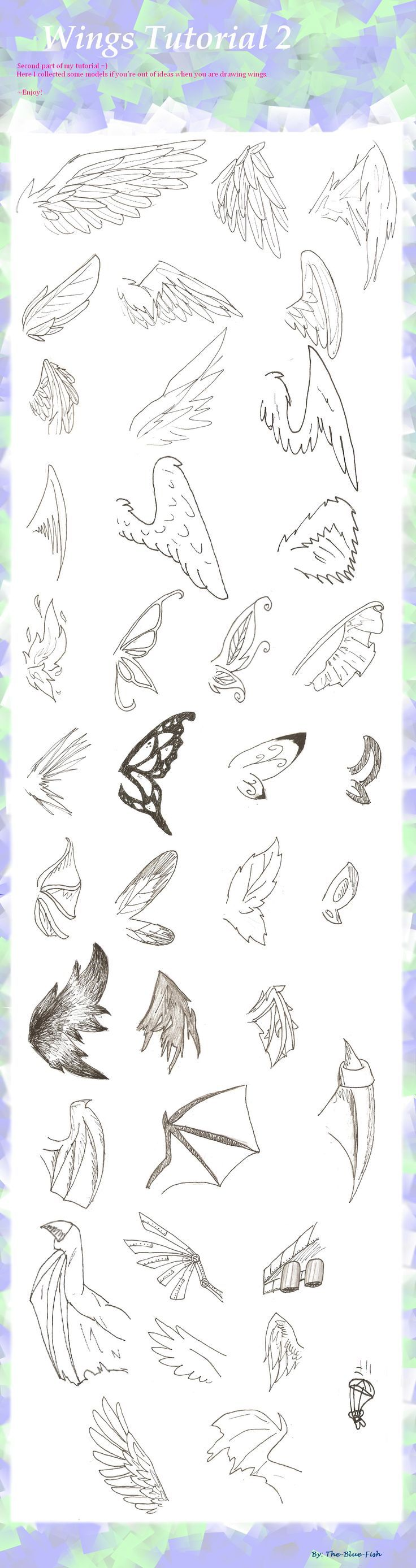Photo of Wing Tutorial pt. 2 by the-blue-fish on DeviantArt