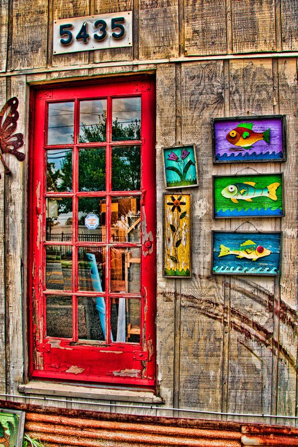 Three Fishes And The Red Door (location unknown)
