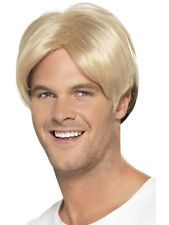 Short Fancy Dress Party Hair Piece Accessory 80/'s 90/'s Blonde Boy Band Wig