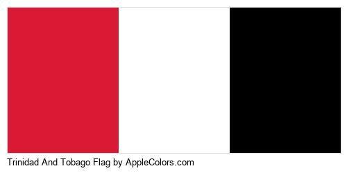 Country Tobago Flag Country Flags Trinidad #da1a35 #ffffff #000000