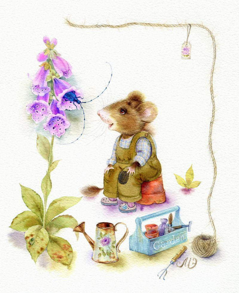 Картинки днем, открытки мышами