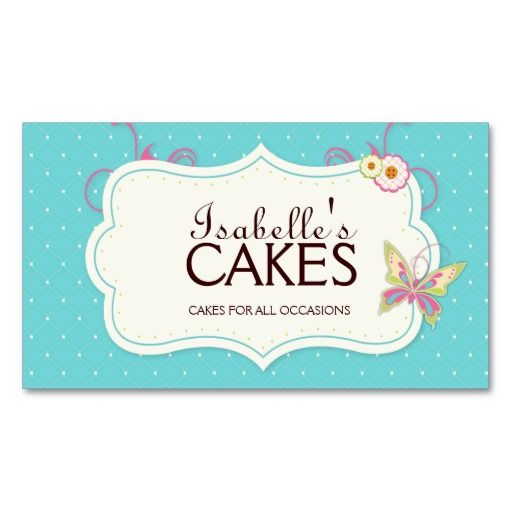 Whimsical bakery business card bakery business cards bakery whimsical bakery business card colourmoves