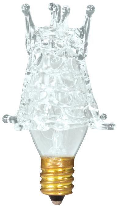 7 Watt Star Incandescent Light Bulb, 2700K Clear E12 (Candelabra) Base, 120 Volt, Box