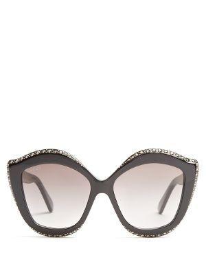Embellished cat-eye acetate sunglasses Gucci oiyot