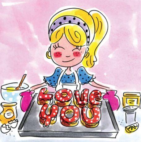 Baking 'love you' - Blond Amsterdam