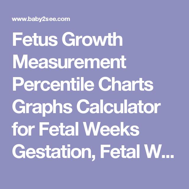 Fetal Weight Chart Ultrasound