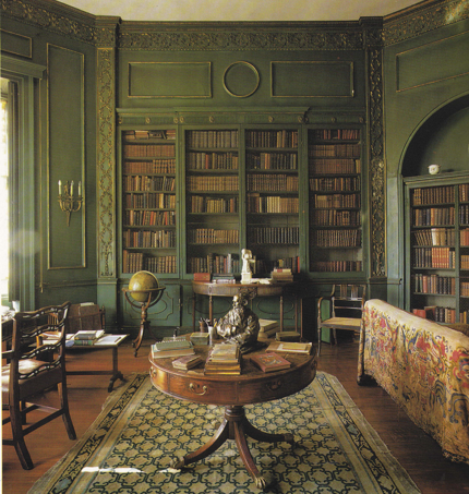 Octagonal Library In Wilbury Park An Inigo Jones Style Hunting Lodge Wiltshire Added By Fulke Greville 1740 Image From Interiors Min