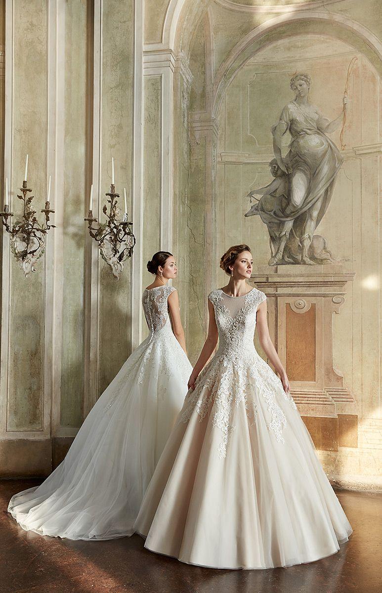 Lace wedding dress champagne  Wedding Dress EK  dresses  Pinterest  Wedding dress Weddings