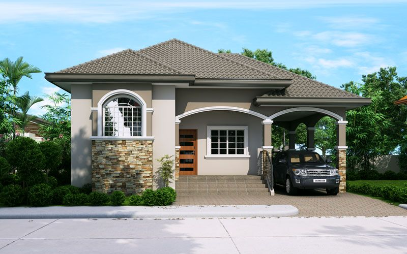 Elevated one storey house design like phd 2015022 take for House garage design philippines