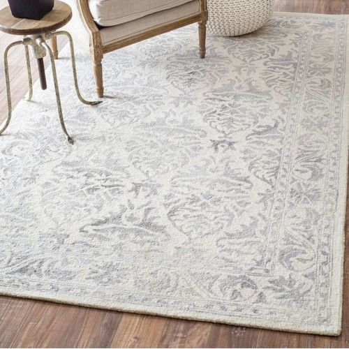 Mount Salem Hand Woven Wool Light Gray Area Rug Our Nest