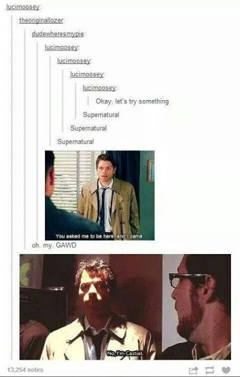 One of my favorite Supernatural tumblr posts XD