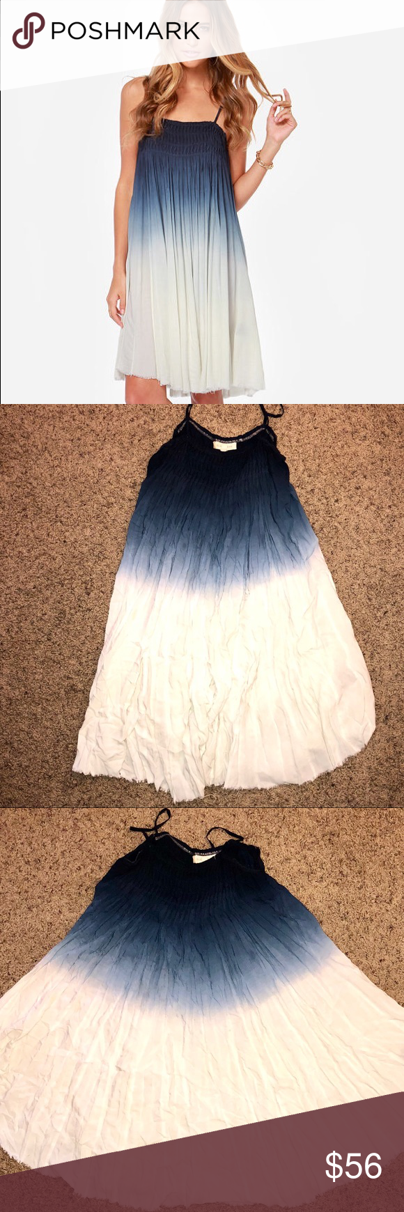 Black swan ora navy blue ombre babydoll dress 자료 pinterest