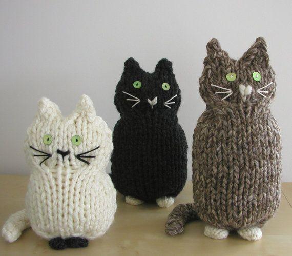 cats knitting pattern stricken pinterest muster stricken und katzen. Black Bedroom Furniture Sets. Home Design Ideas