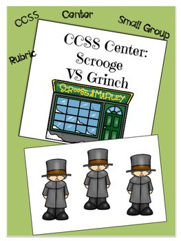"Who hates Christmas more, Ebenezer Scrooge or Grinch? Your kids will love finding out in this lesson center activity that addresses Common Core ELA standards using text based evidence. The activity includes  excerpts from ""A Christmas Carol"" by Charles Dickens and ""The Grinch Who Stole Christmas""."