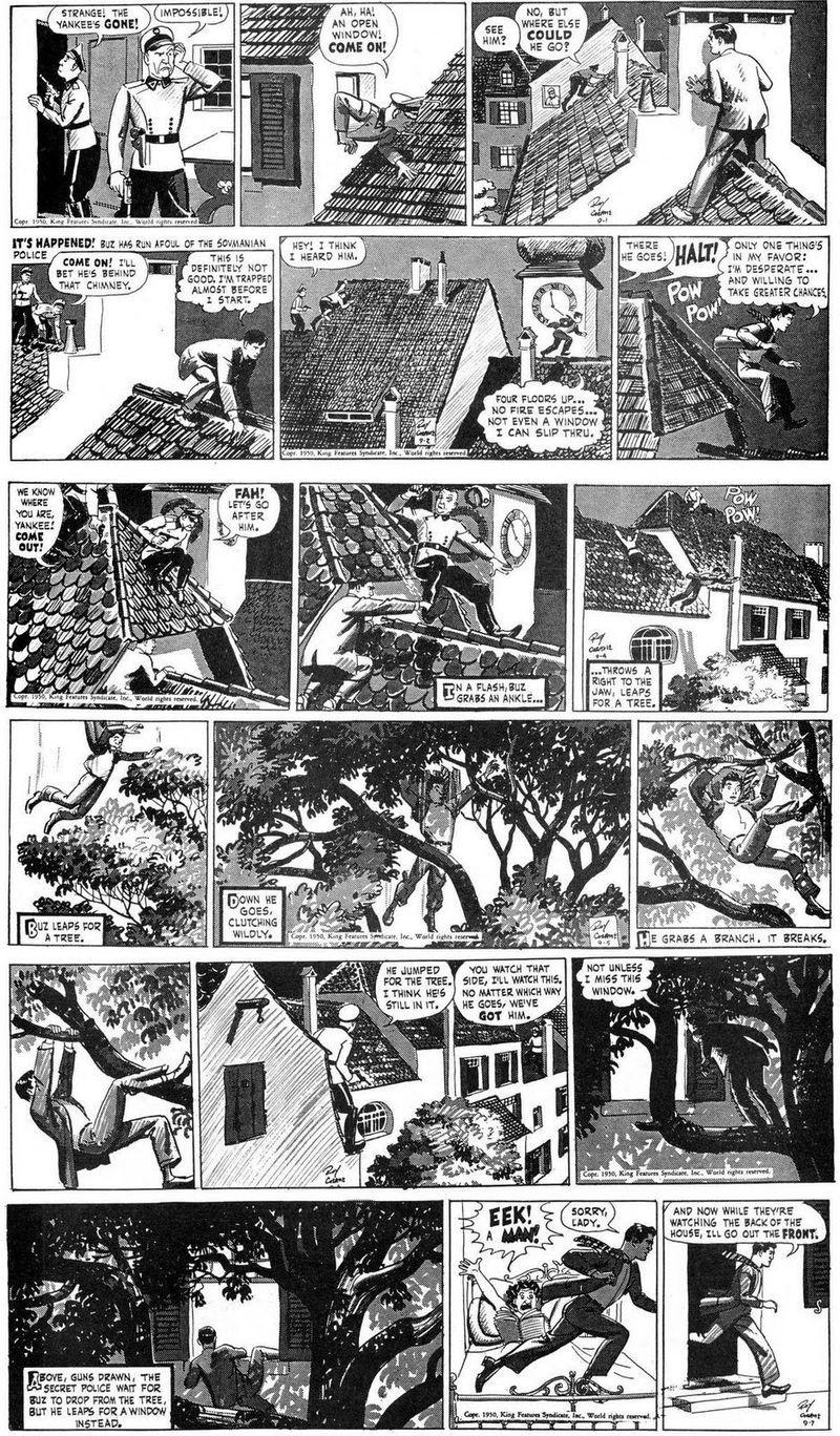 Roy Crane And Buz Sawyer White Art Artwork Comic Art