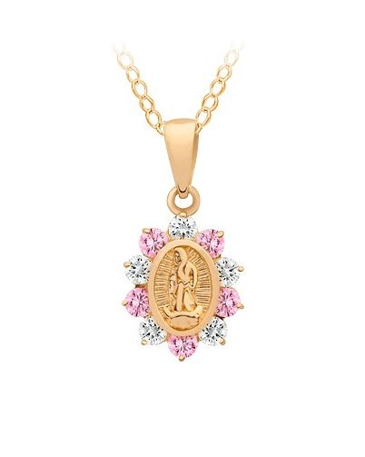 cffdcae8d 14K Gold Virgin Mary Necklace for a Little Girl. A Perfect Baptism or  Christening Gift.