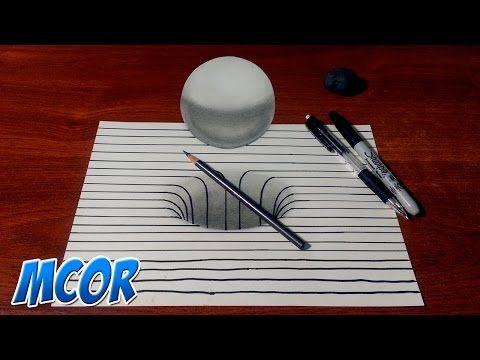 Dibujando Un Hoyo Y Esfera 3d Con Lineas Youtube Cómo Dibujar Cosas Dibujos 3d Faciles Easy Pencil Drawings