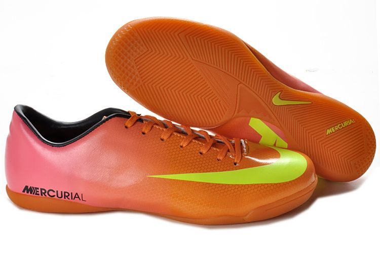 5b6046b3454 Nike Mercurial Vapor IX IC Indoor Soccer Shoes Orange Pink Green ...