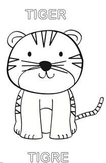 Animales Para Colorear Tema Animales De La Selva Tigre Para