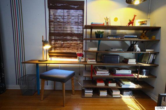this easy diy bookshelf doubles as a desk desks shelves and ikea