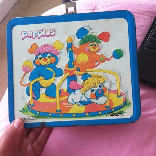 Vintage Popples Metal Lunchbox & Thermos