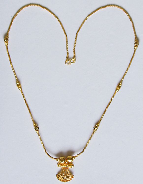 Golden chain with pendant chains pendants and metals golden chain with pendant metal mozeypictures Image collections