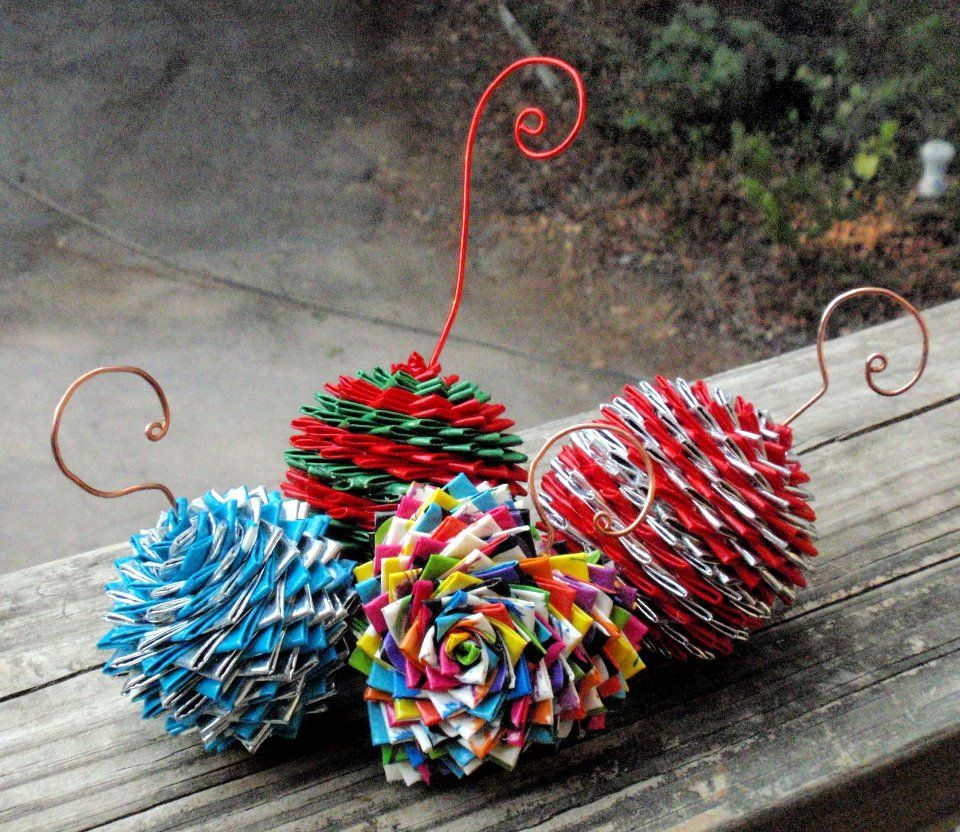 Duct Tape Christmas Tree Ornaments