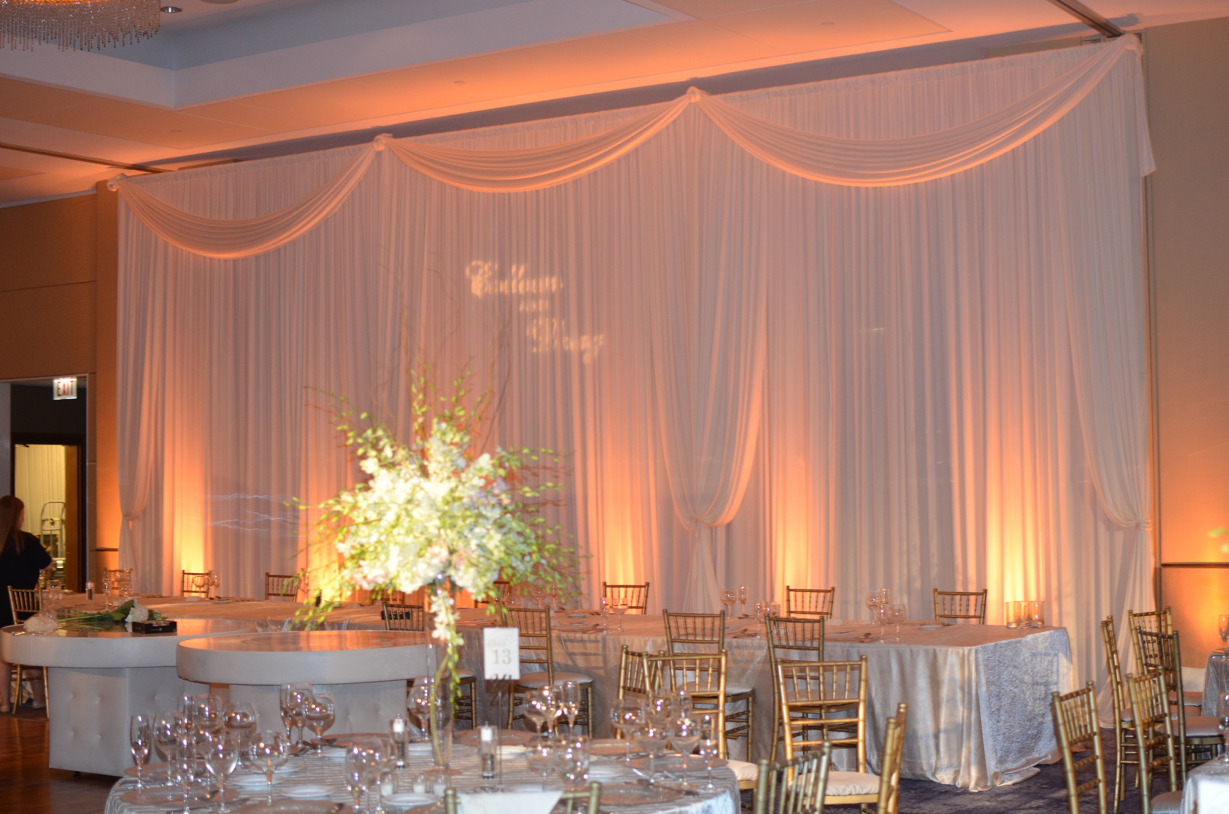 drape high for in price foot draping pipe other section ivory available chiffon is rentals per and drapes black white poly listed