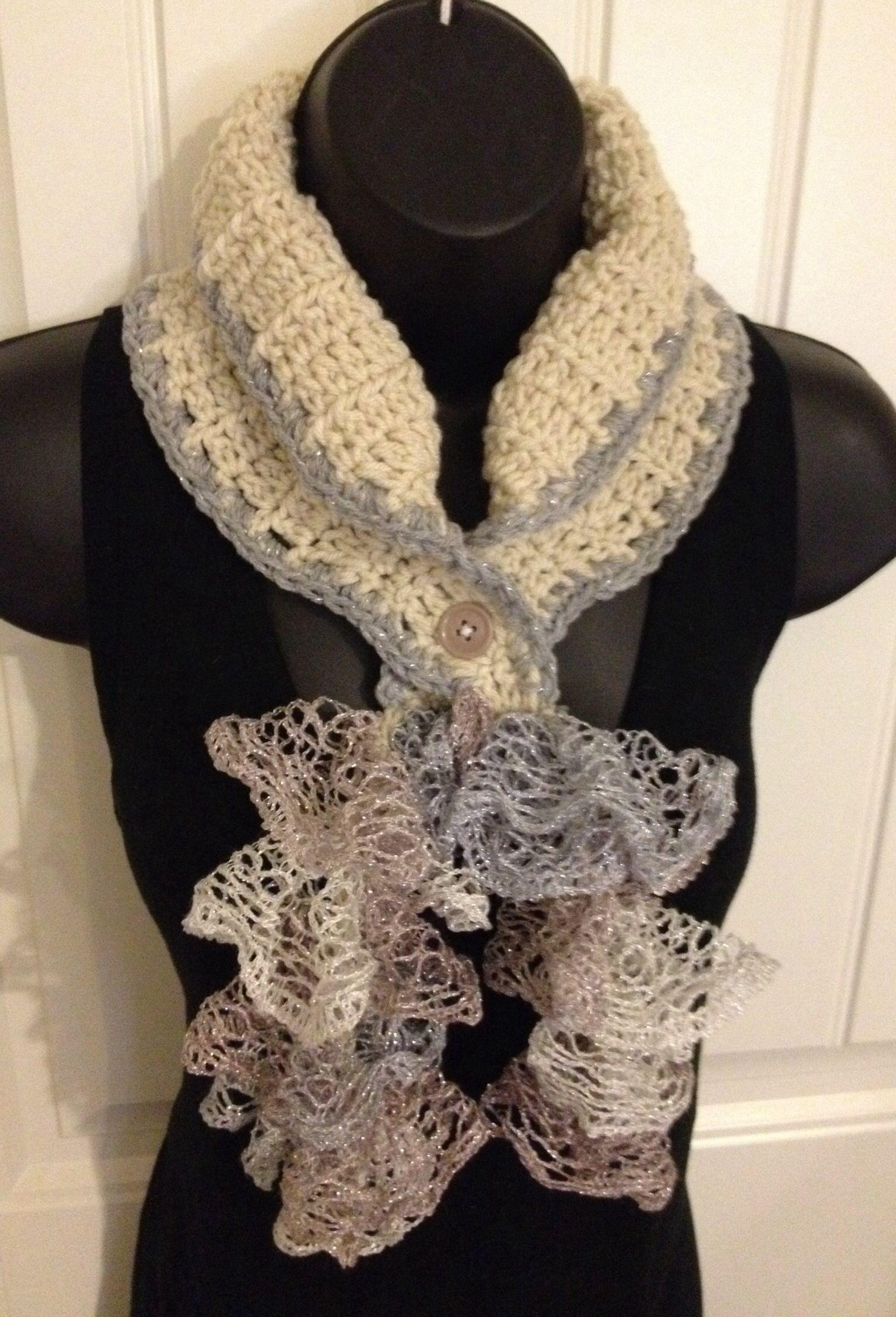 Crochet ruffle sashay cowl/scarf Ebay.com/usr/betsys_crafts | DIY ...