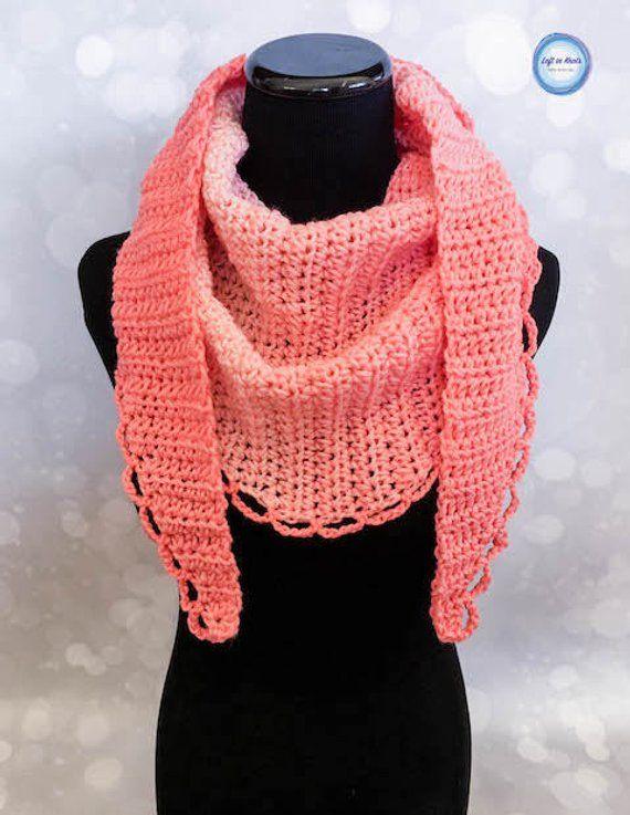 3477ad23d9b15 Petals Mod Scarf Crochet PATTERN DOWNLOAD | Products | Crochet ...