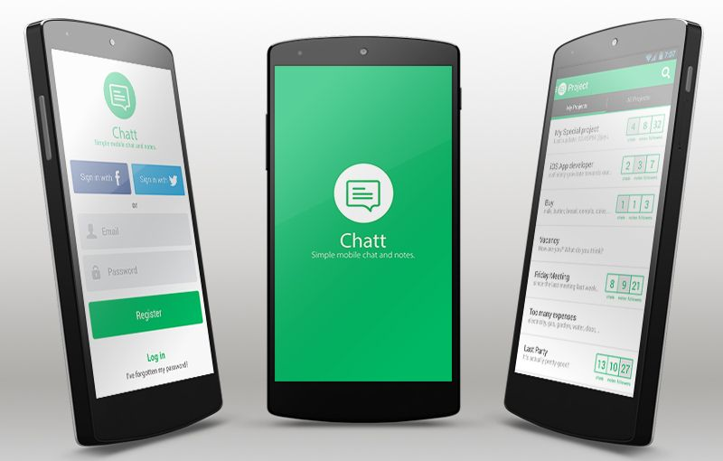 Sample Android Chat App Template with Parse Backend Chat