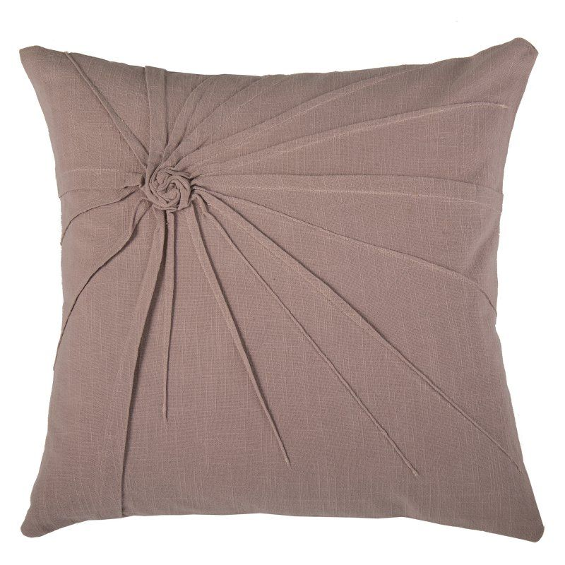 Rizzy Home Ruched Cotton Decorative Throw Pillow PILT40PI40 Awesome Mauve Decorative Pillows