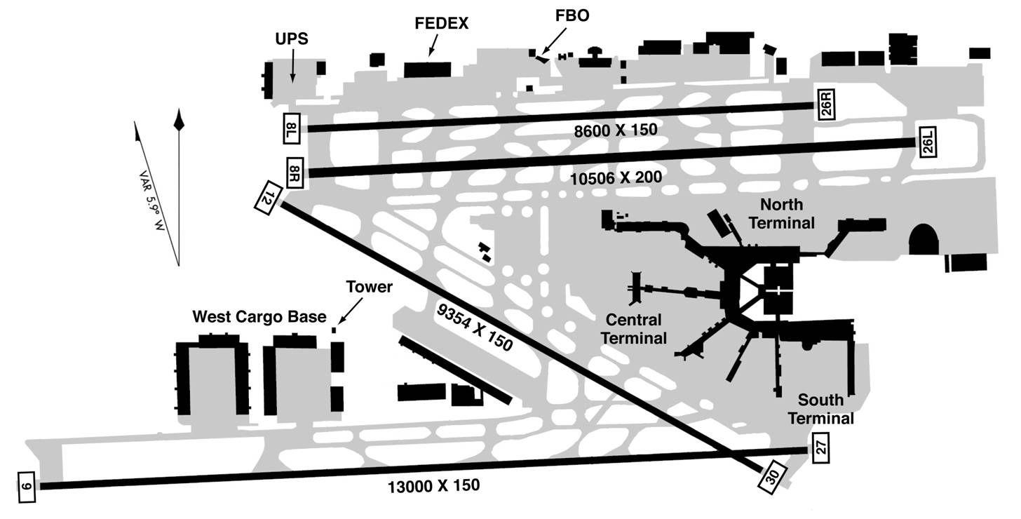 Miami International Airport Map Aviation Pinterest