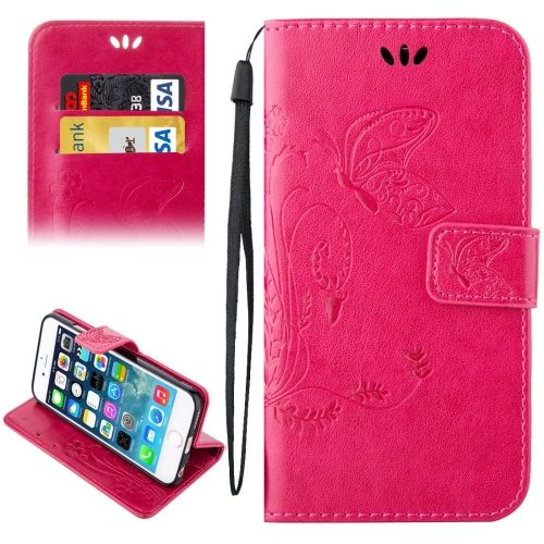 [$2.41] For iPhone 5 & 5s & SE Crazy Horse Texture Printing Horizontal Flip Leather Case with Holder & Card Slots & Wallet & Lanyard(Magenta)
