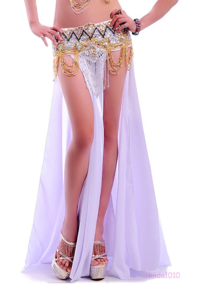 Hot New Sexy Belly Dance Costume Saint Skirt  Side Slits Skirt  Colors Ebay