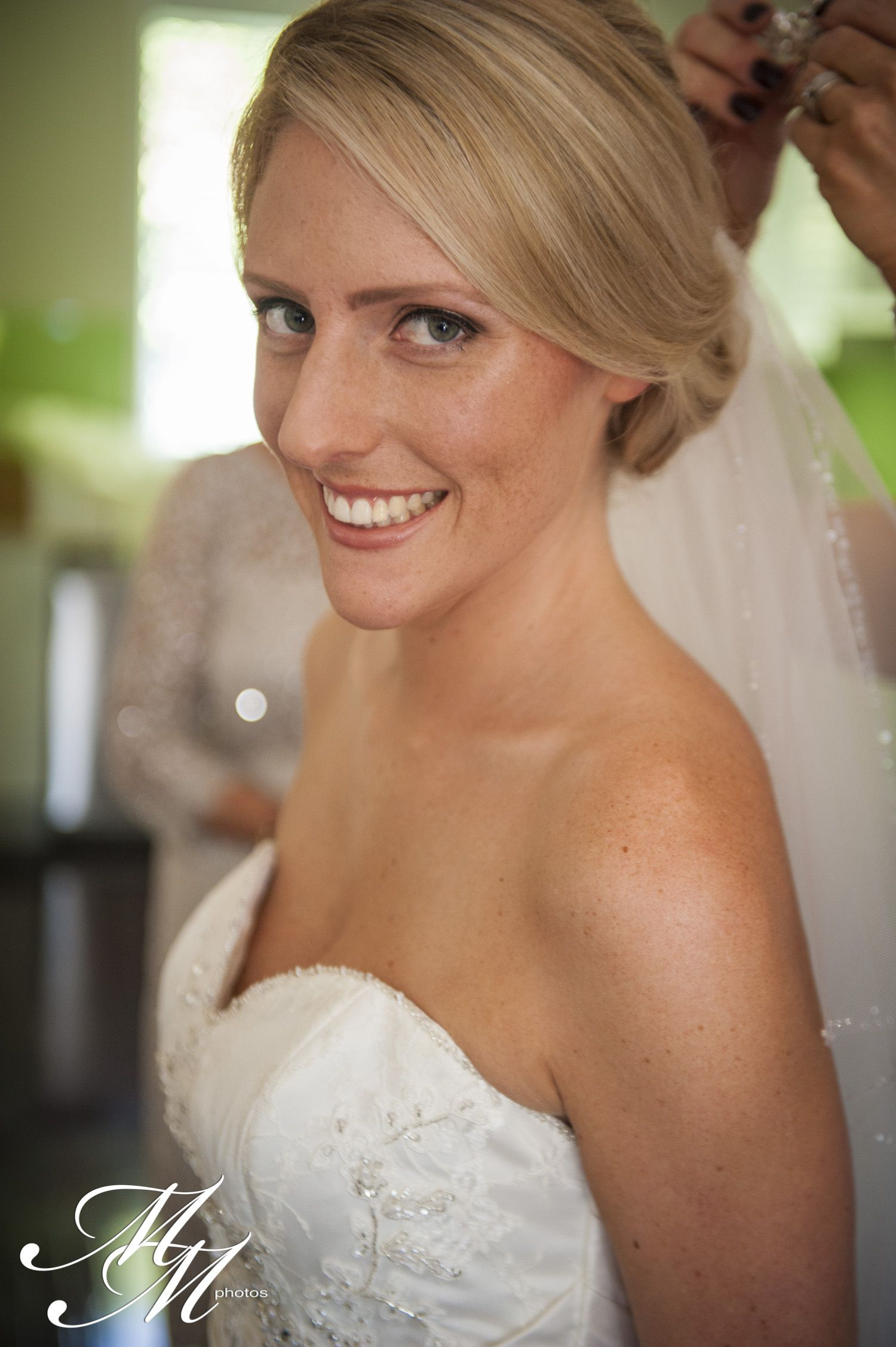 Airbrushed wedding dress  Our beautiful bride Jacqualine airbrushed by Absolute Makeup