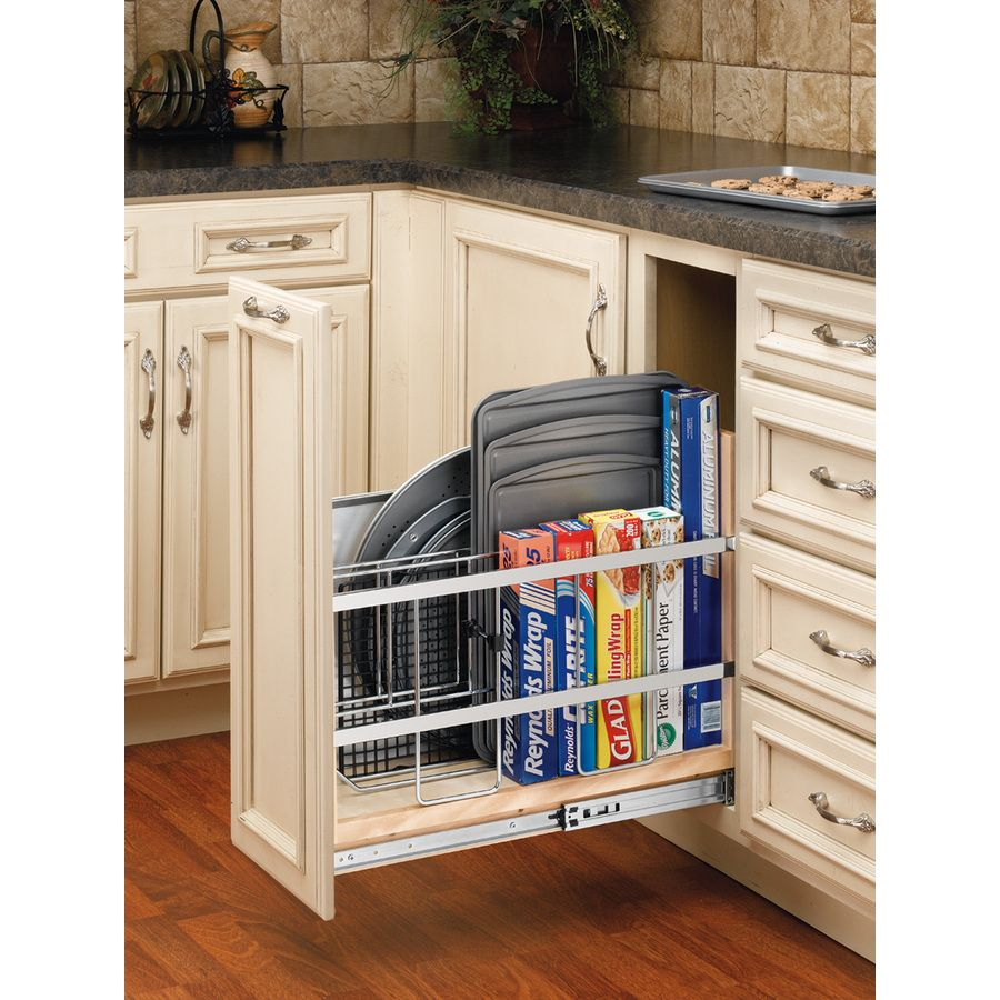 Yes Please Rev A Shelf 1 Tier Wood Pull Out Cabinet Basket At