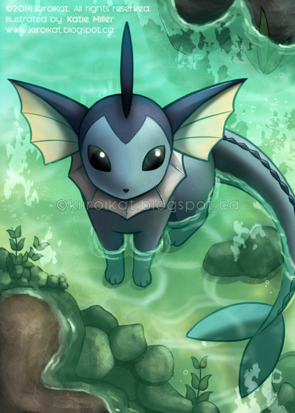 Edit: I've added a watermark because people keep re-uploading this. I got the idea for this while working onmy previous submission to deviantART.I've always wanted to draw Vaporeon, eve...