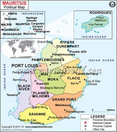 Mauritius Map MCQs Pinterest Mauritius and City