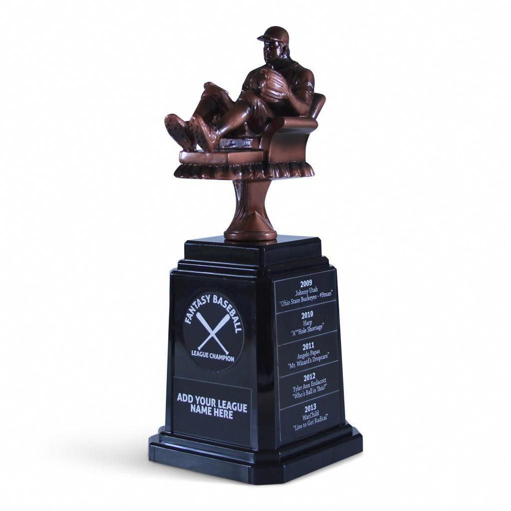 Fantasy Baseball Championship Trophy Armchair Baseballnews Fantasybaseball Fantasy Basketball Fantasy Baseball Baseball Trophies