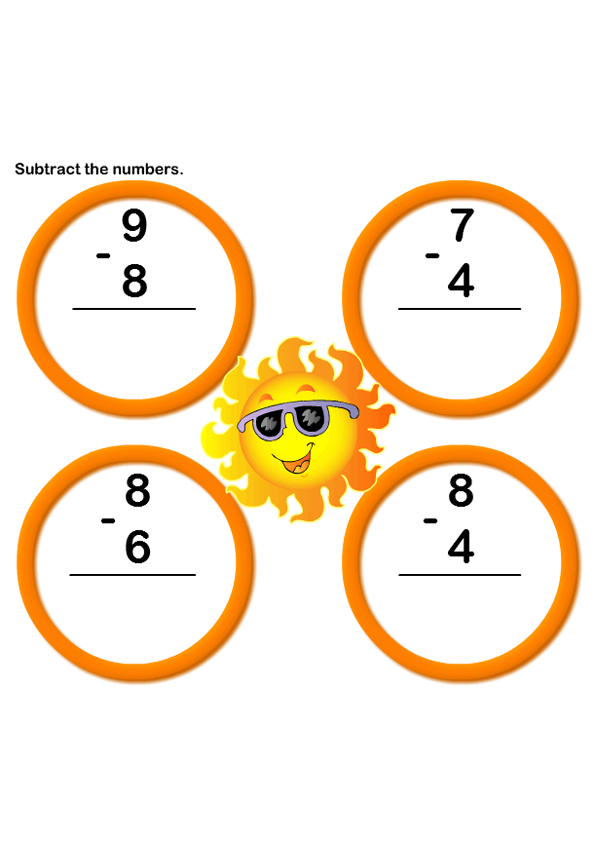 Math Worksheets Kindergarten Worksheets Subtraction Worksheets – Subtraction Games Worksheets